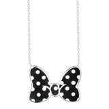 Disney's Minnie Mouse Bow Necklace - Figaro Black (Large)