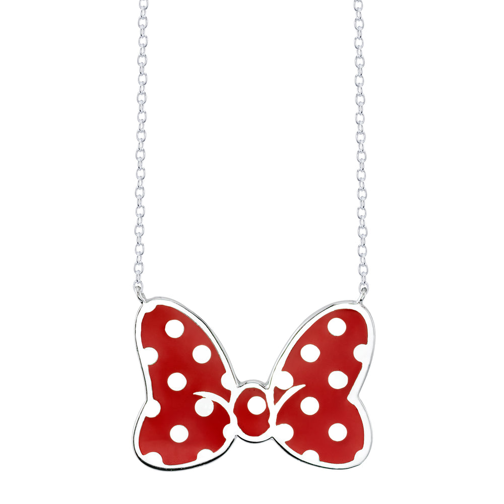 Disney's Minnie Mouse Bow Necklace - Iconic Red (Large)
