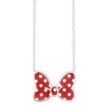 Disney's Minnie Mouse Bow Necklace - Iconic Red (Small)