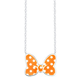 Disney's Minnie Mouse Bow Necklace - LIMITED EDITION Tangerine