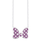 Disney's Minnie Mouse Bow Necklace - LIMITED EDITION Violet