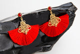 DISNEY'S MULAN Courage Fan Earrings