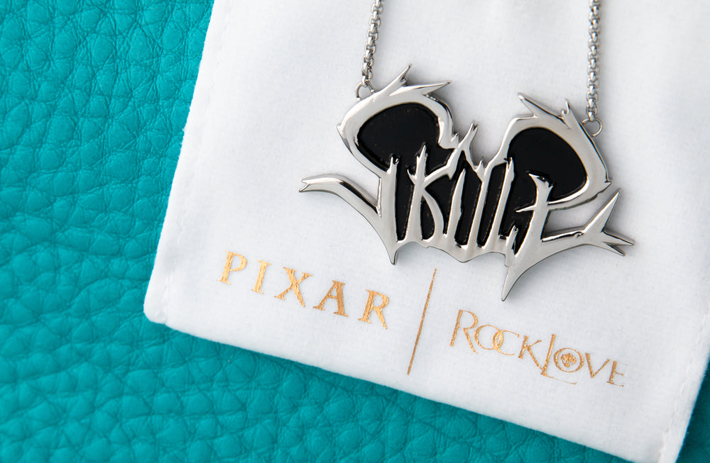 PIXAR X RockLove ONWARD Skull Necklace