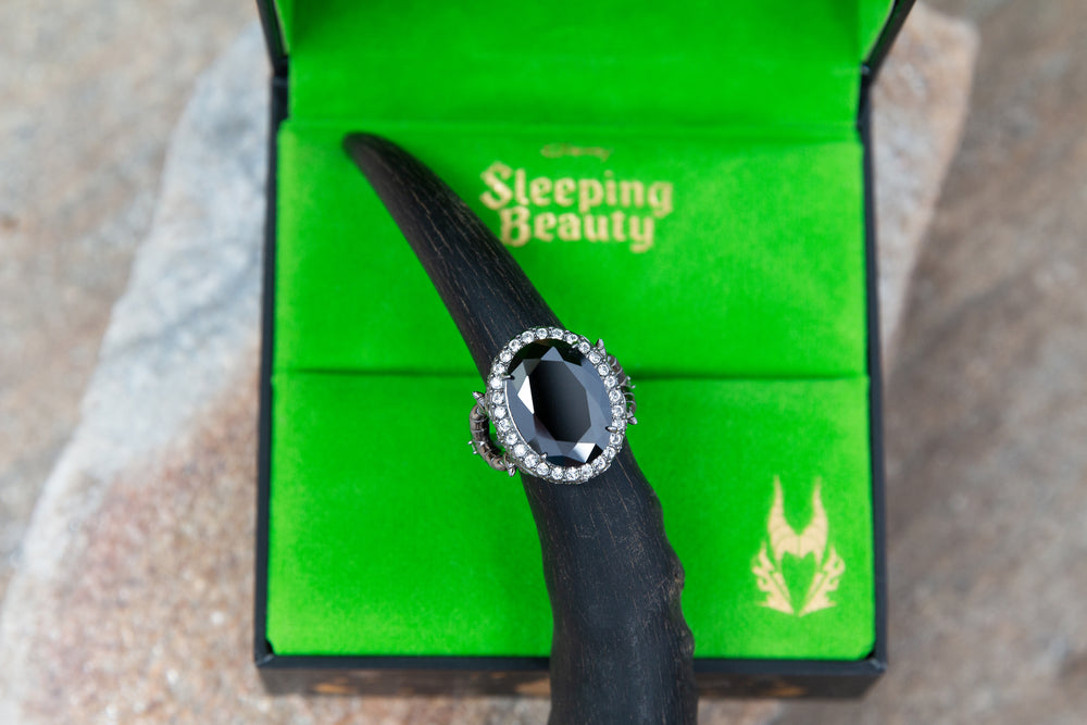 Disney X RockLove SLEEPING BEAUTY Maleficent Crystal Ring