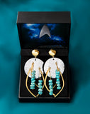 Star Trek X RockLove Guinan Turquoise Earrings