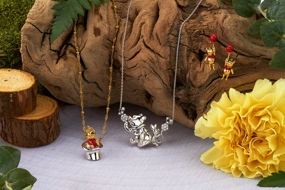DISNEY'S CHRISTOPHER ROBIN Winnie the Pooh Swinging Earrings