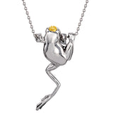 DISNEY'S THE PRINCESS AND THE FROG Crowned Frog Necklace