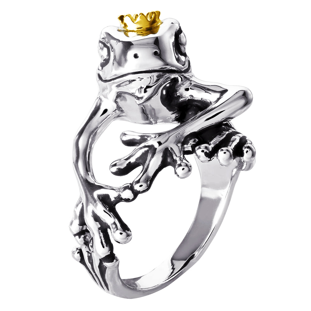 DISNEY'S THE PRINCESS AND THE FROG Crowned Frog Ring