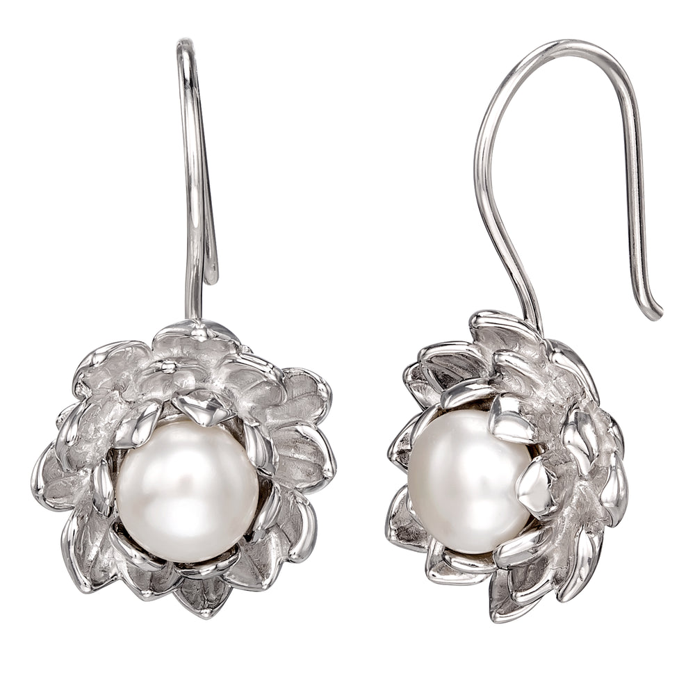 DISNEY'S THE PRINCESS AND THE FROG Water Lily Pearl Earrings
