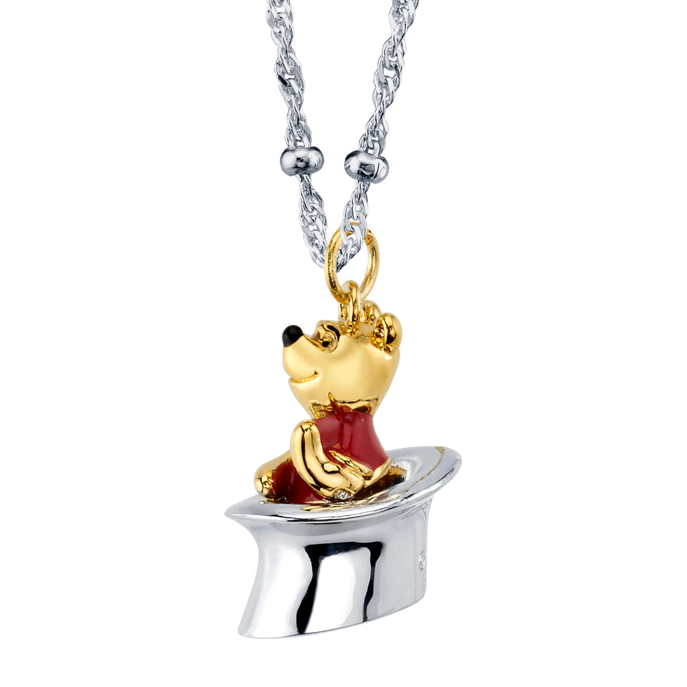 DISNEY'S CHRISTOPHER ROBIN Winnie the Pooh Top Hat Necklace