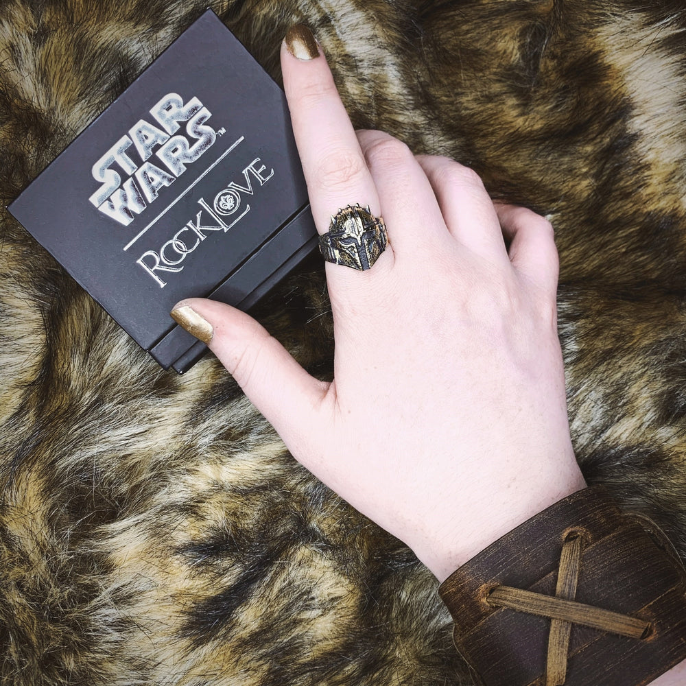 Star Wars X RockLove The Armorer Helmet Ring