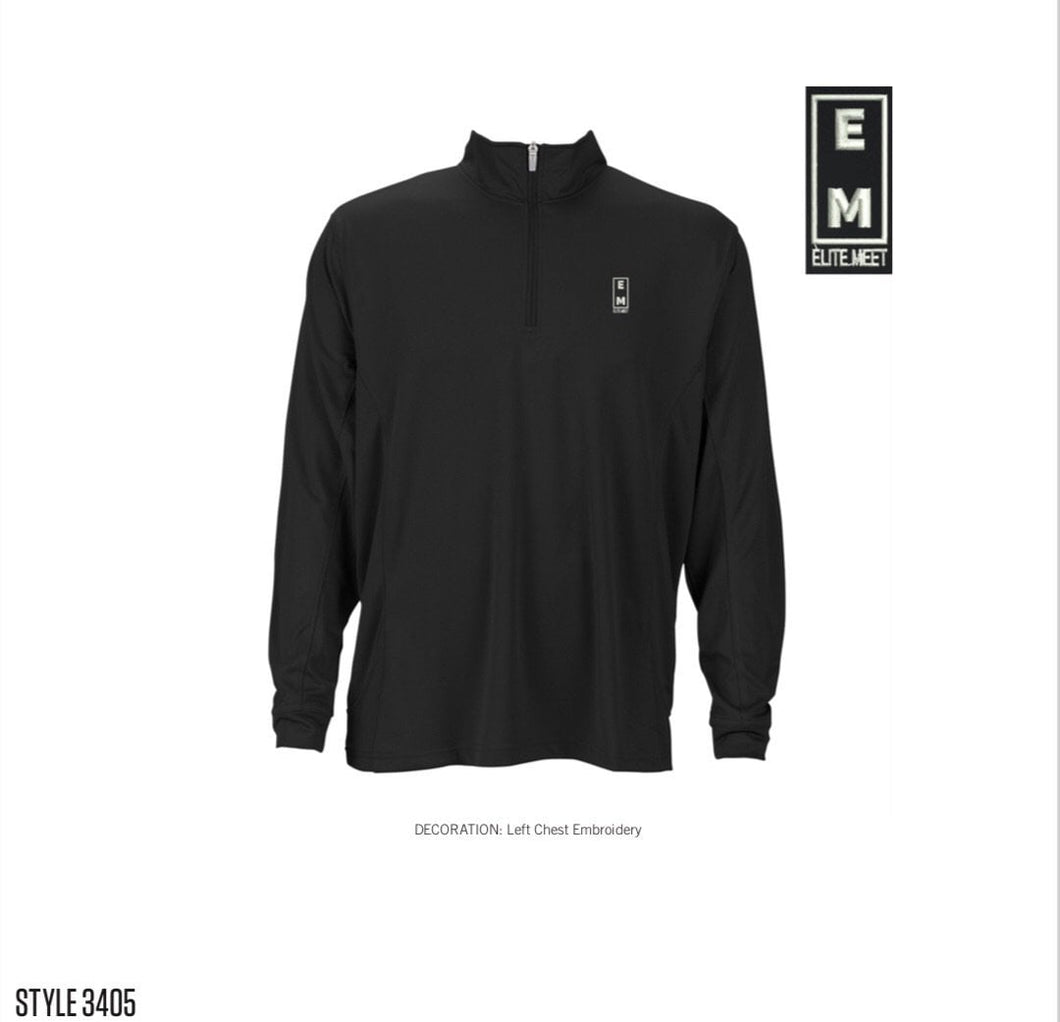 Elite Meet Men's Performance 1/4 Zip Pullover - EliteMeetGear.us