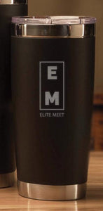 ELITE MEET BLACK TUMBLER - 22oz - EliteMeetGear.us
