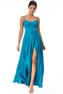 GODDESS  designer gown 10700 teal size 6 and size 10
