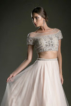 10730 Andrea and Leo 2 piece with beaded top and princess skirt