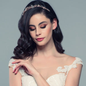 #7090 Clarabelle  Rose gold Tiara By  SASSB luxury collection