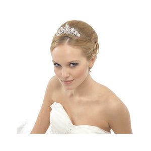 #7092 Precious crystal tiara comb by SWAROVSKI - rose gold