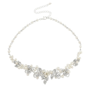 #7094A  Exquisite Bridal pearl necklace by SASSB