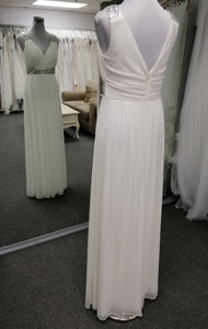 Style 1212. Size 10 soft  chiffon grecian style wedding gown