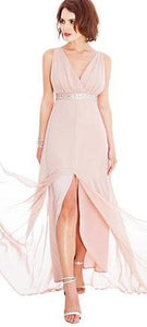 Size 8 'Goddess' plunging neckline and front split evening gown