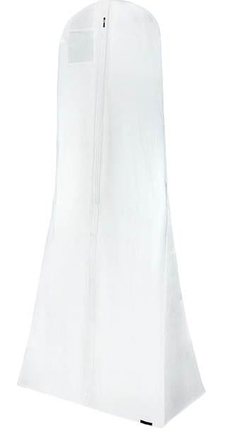 #8001 WHITE BRIDAL DRESS GARMENT BAG 183 x 75 x 17cm