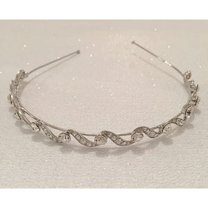 #7084 Vintage style crystal hairband by Athena