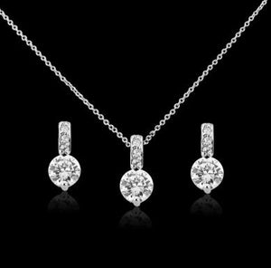 #7087 CUBIC ZIRCONIA COLLECTION - CLASSIC CRYSTAL NECKLACE SET by Athena