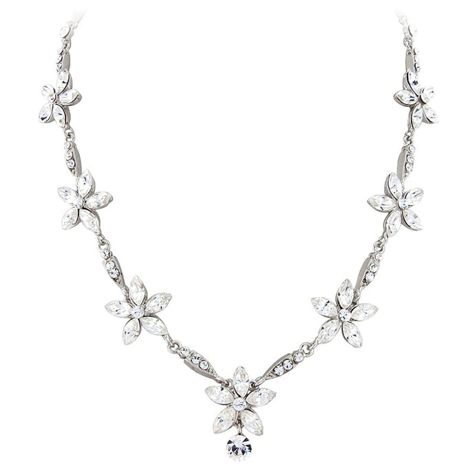 #7088 Chic and Stunning vintage inspired crystal Elite couture necklace set
