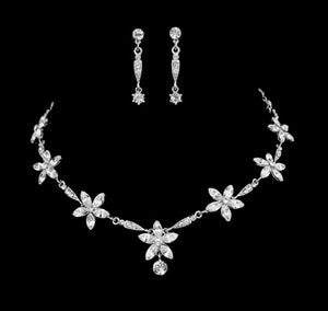 #7088 Chic and Stunning vintage inspired crystal Elite couture necklace set by Athena