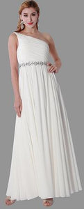 Size 8 bohemian off white chiffon gown with mesh back. now only $195
