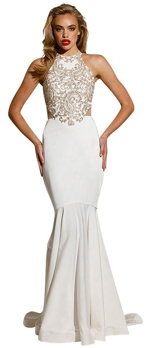 70517 size 6 Tina Holly T1849 designer  gown with open back