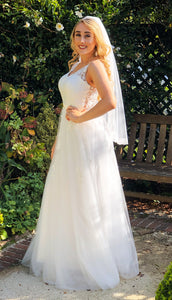 70565   A line ' Victoria' Wedding dress