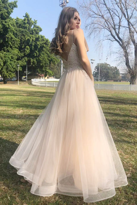 70766.  Princess champagne gown.