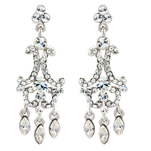 #7201  BRIDAL ELITE COLLECTION - CRYSTAL COUTURE EARRINGS  By SASSB