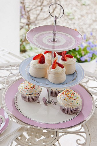 BB3TP1 3 Tier porcelain cup cake stand $10.50. 3 available for hire