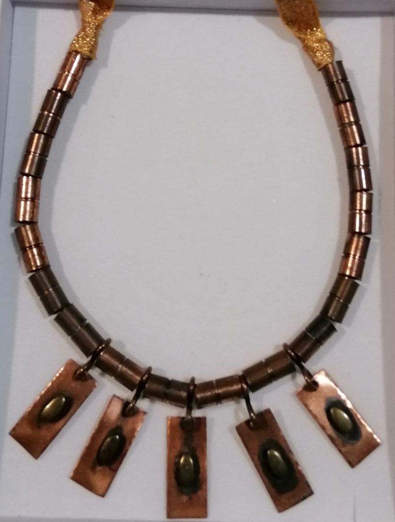 BBHS21. Real copper hand crafted bridal horseshoe.