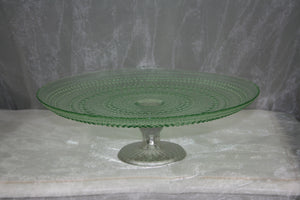 BBRGG1 Retro green glass cake stand $8.70