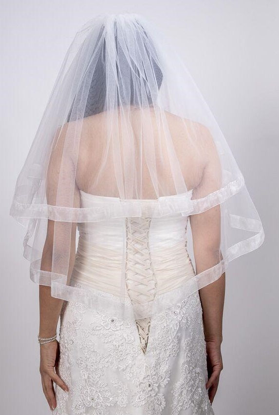 BBV2 2 layer organza veil. Perfect addition to most bridal gowns