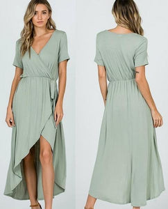 Sage green informal bridesmaid dress on clearance $49. size L to 3XL (size12 size 14 size 16 size 18)