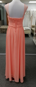 BM860 peach size 8 and size 10 chiffon, 2 strap, empire $99 on clearance