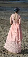 Pink high low bridesmaid dress  size 8 and size 12