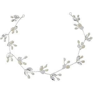 #7062 Crystal Chic Hair vine with pearls in ivory by SASSB