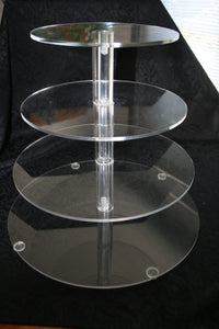 BB4TCS 4 Tier acrylic stand $34.80 use for doughnuts