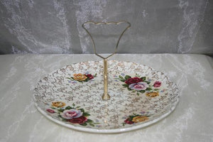 BB1TP1 1 Tier porcelain vintage cup cake stand $8.70. 1 available
