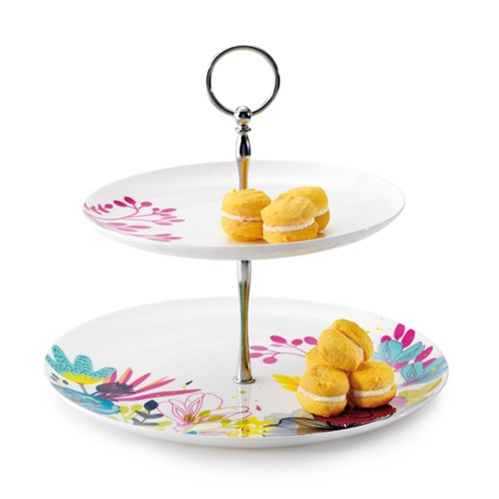 BB2TP1 2 Tier porcelain cup cake stand $8.70. 10 available for hire