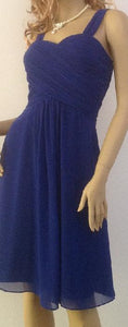 BM002 royal blue knee length , good quality dress size 20.