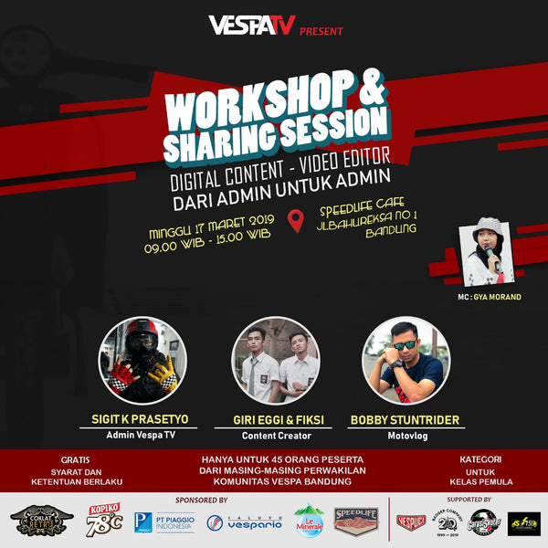 "Workshop & Sharing Session Digital Content ""Dari admin untuk admin"" by Vespa TV"