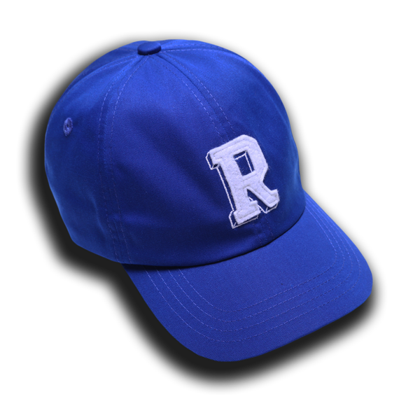 R INITIAL HAT BLUE - Badger Invaders