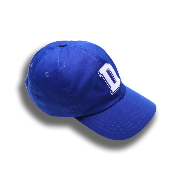 D INITIAL HAT BLUE - Badger Invaders