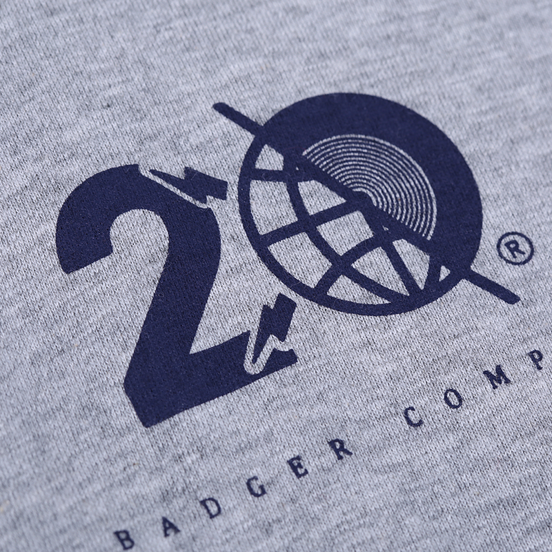 VINYLGRAM NAVY RAGLAN TSHIRT - Badger Invaders